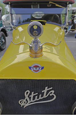 Photograph - A Yellow Stutz Vintage Motorcar by Willie Harper