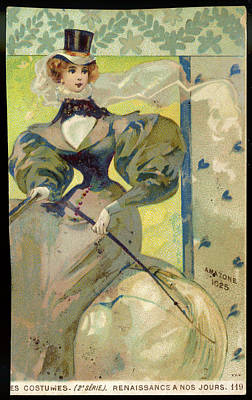 A Young 'amazon' Woman, In  Full Riding Art Print