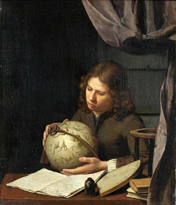 Astronomers Painting - A Young Astronomer by Olivier van Deuren