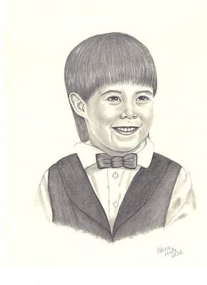 Art Print featuring the drawing A Young Boy by Patricia Hiltz