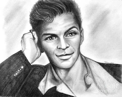 Frank Sinatra Drawing - A Young Frank Sinatra by Patrice Torrillo