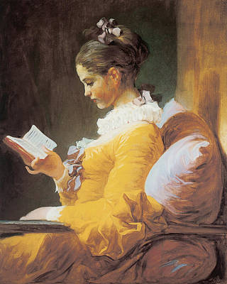 A Young Girl Reading Art Print by Jean-Honore Fragonard