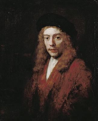 Perhaps Painting - A Young Man Perhaps The Artist's Son Titus by Rembrandt van Rijn
