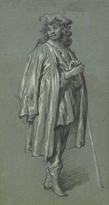 A Young Man Standing Govaert Flinck, Dutch Art Print