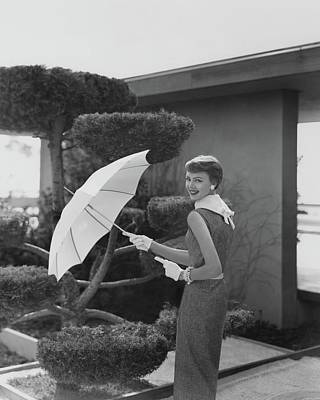 Photograph - A Young Model In The Garden Thornton Ladd by Karen Radkai