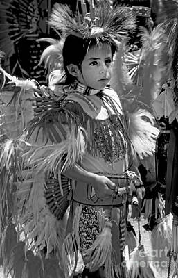 Photograph - A Young Warrior - B W by Paul W Faust -  Impressions of Light