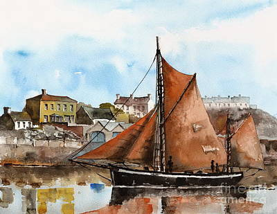 Painting - A Zulu Off Aran  Galway by Val Byrne