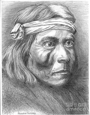 Drawing - Shadow Catcher, A Zuni Governor by Bill Hubbard