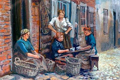 Painting - A02. Working Ladies by Les Melton