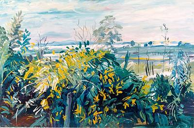 Painting - A03. Wattle Tree Queensland Aus by Les Melton
