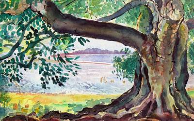 Painting - A04. Fig Tree  by Les Melton