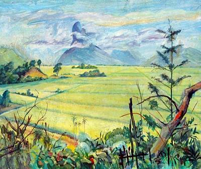 Painting - A05. Sugar Cane Fields  by Les Melton