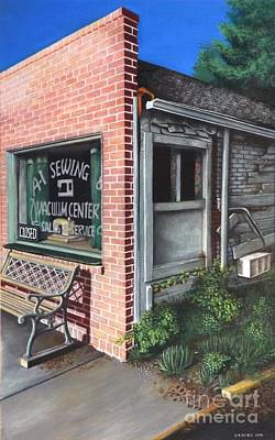 Window Signs Drawing - A1 Sewing by David Neace