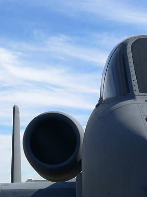 Photograph - A10 Thunderbolt Engine Nose Closeup by Jeff Lowe