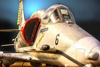 A4 Skyhawk Attack Jet Art Print by Thomas Woolworth