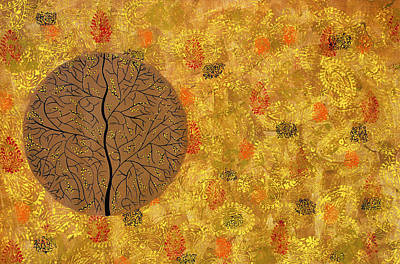 Tree Roots Painting - Aaatamvas by Sumit Mehndiratta