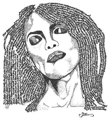 Aaliyah Drawing - Aaliyah by Carlos Santana Trott