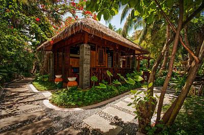 Photograph - Aaramu Spa Hideaway In Tropical Garden. Maldives by Jenny Rainbow