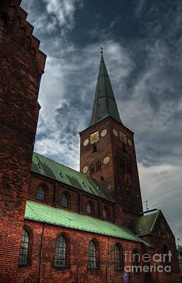 Aarhus Church Hdr 03 Art Print by Antony McAulay