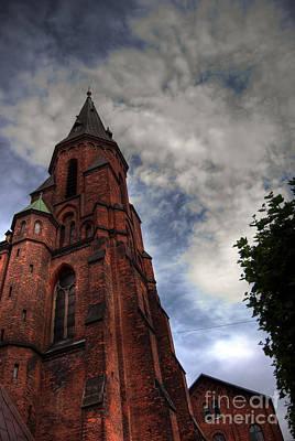 Aarhus Church Hdr 04 Art Print by Antony McAulay
