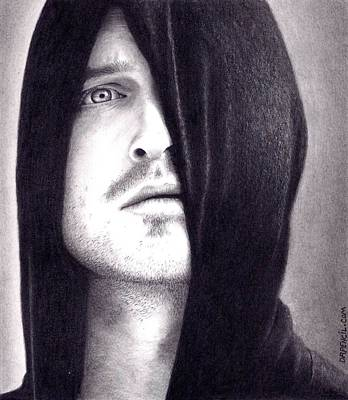 Aaron Paul Drawing - Aaron Paul - Breaking Bad by Rick Fortson