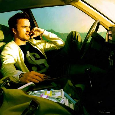 Digital Art - Aaron Paul by Gabriel T Toro
