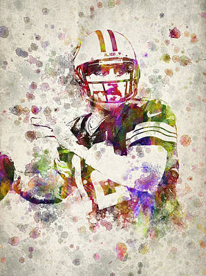 Aaron Rodgers Art Print by Aged Pixel