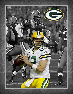 Football Stadium Photograph - Aaron Rodgers Packers by Joe Hamilton