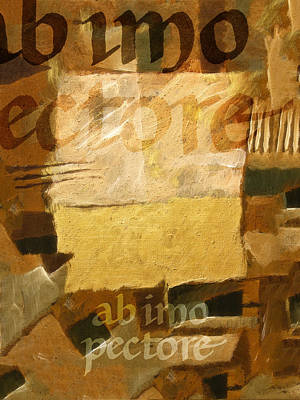 Quotation Painting - Ab Imo Pectore Golden by Lutz Baar