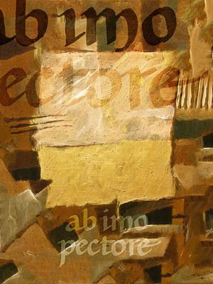 Ab Imo Pectore Golden Art Print by Lutz Baar
