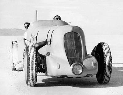 Ambition Photograph - Ab Jenkins Speed Record Run by Underwood Archives