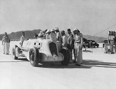 Ambition Photograph - Ab Jenkins Speed Record by Underwood Archives