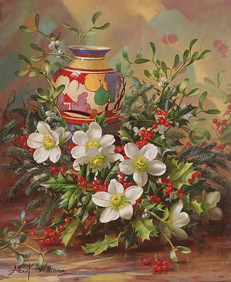 Painting - Winter Flowers by Albert Williams