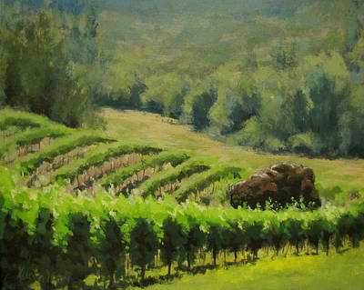Painting - Abacela Vineyard by Karen Ilari