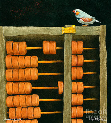 Abacus Finch... Print by Will Bullas