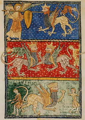The Book Of Revelation Photograph - Abaddon And Scourge Of Locusts by Photo Researchers
