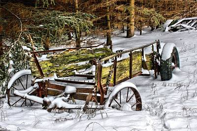 Photograph - Abandoned In The Snow by Life With Horses