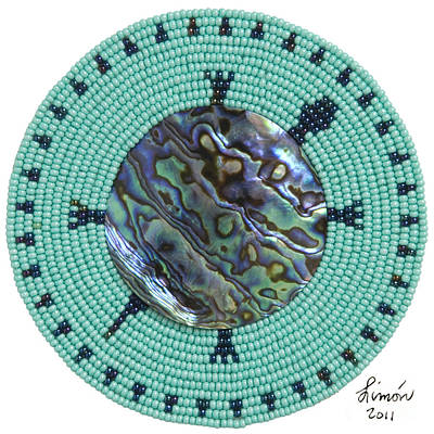 Beadwork Mixed Media - Abalone Shell by Douglas K Limon