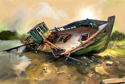 Painting - Abandon Boat by Robert Smith
