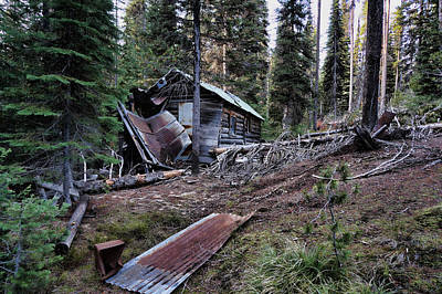 Photograph - Abandon Miners Cabin by Ron Roberts