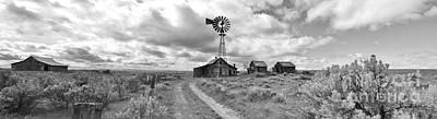 Photograph - Abandon Ranch Panorama In Black And White by Ansel Price