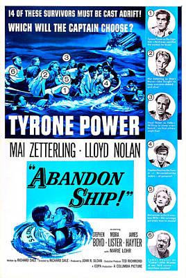 1957 Movies Photograph - Abandon Ship, Aka Seven Waves Away, Us by Everett