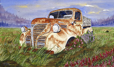 Painting - Abandon Truck by Rich Stedman