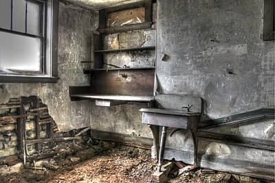 Abandonded Kitchen Art Print by Jane Linders