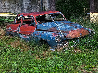 Photograph - Abandoned 1950 Mercury Monteray Buick by Ginger Wakem