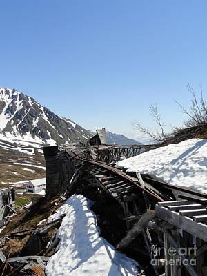 Abandoned Alaskan Gold Mine Track IIi Art Print by Dani Abbott