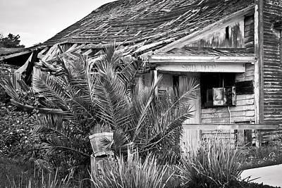 Sign Photograph - Abandoned Alviso by Priya Ghose