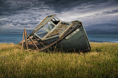 Photograph - Abandoned And Forlorn A Ship Wreck Lies On Prince Edward Island by Randall Nyhof