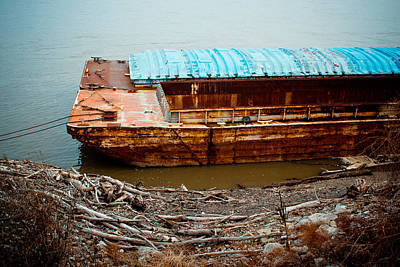 Photograph - Abandoned Barge by Kristy Creighton