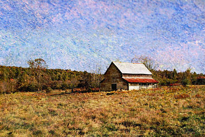 Art Print featuring the photograph Abandoned Barn In North Georgia by Vizual Studio